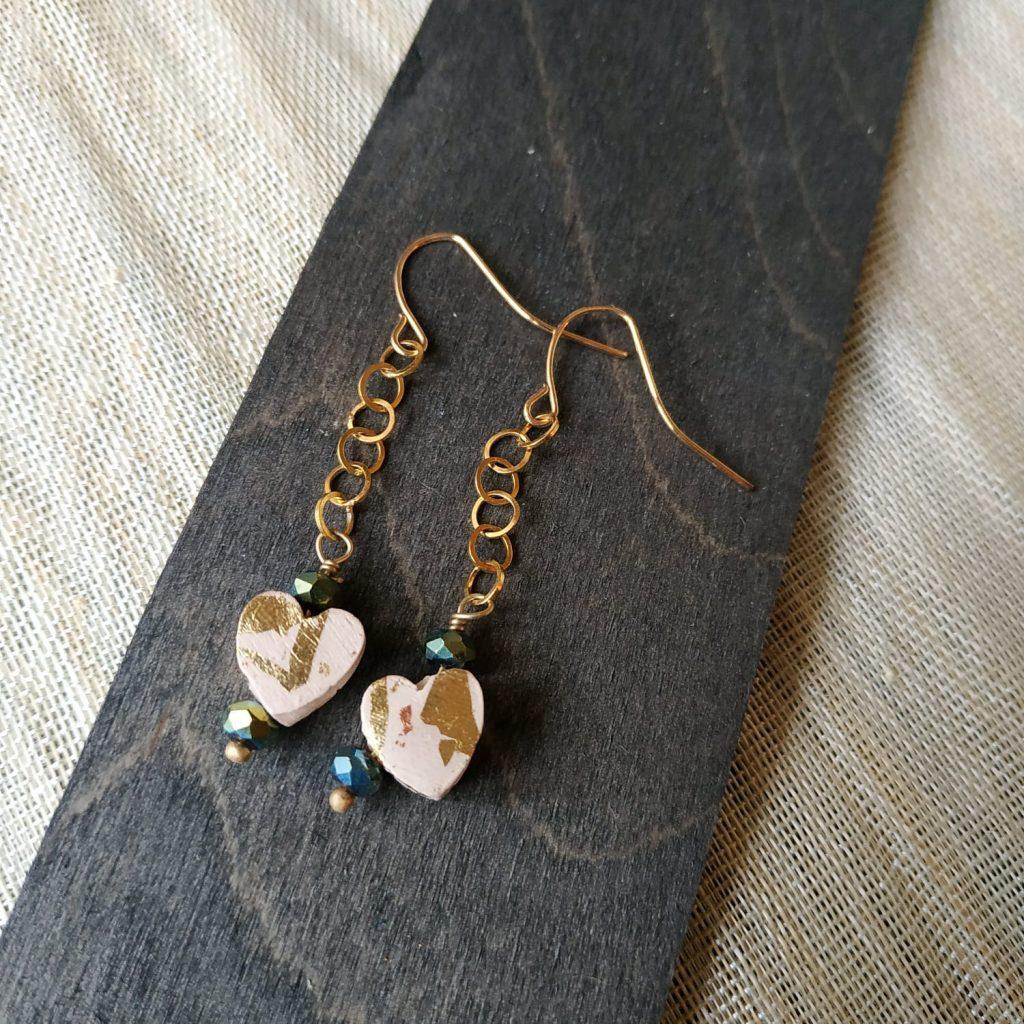 orecchini artigianali pendente cuore
