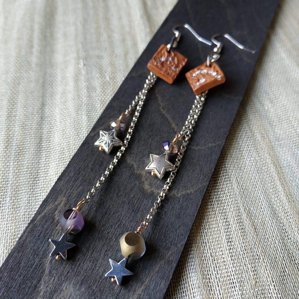 orecchini artigianali pendente lunghi